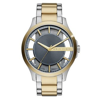 Armani Exchange Hampton Men's Two Tone Bracelet Watch - Product number 4173422