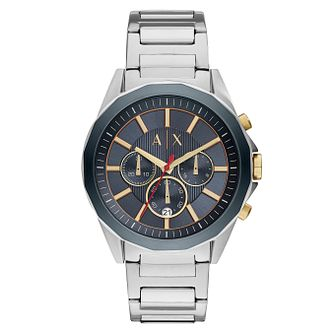 Armani Exchange Men's Silver-Tone Bracelet Watch - Product number 4173457