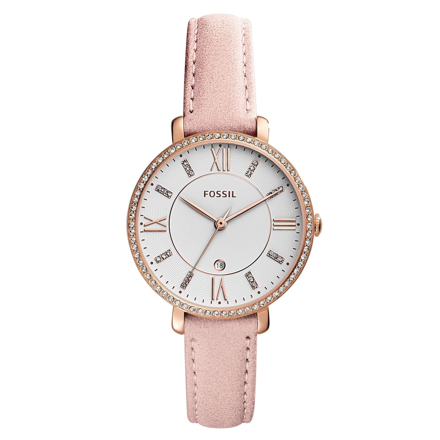 Fossil Ladies' Pink Leather Strap Watch - Product number 4173481