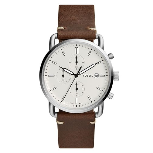 Fossil Men's Brown Leather Strap Watch - Product number 4173635