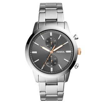 Fossil Townsman Men's Silver Stainless Steel Bracelet Watch - Product number 4173643