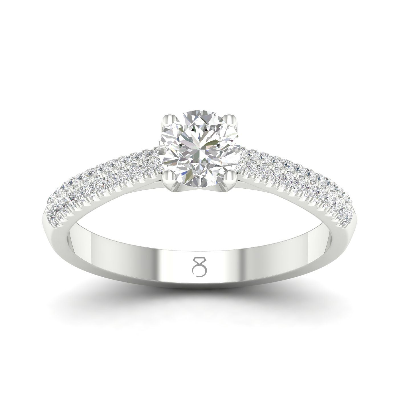 The Diamond Story 18ct White Gold 0.50ct Total Diamond Ring - Product number 4173651