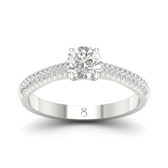 The Diamond Story 18ct White Gold 1/2ct Diamond Ring - Product number 4173651