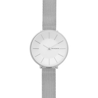 Skagen Karolina Ladies' Stainless Steel Mesh Strap Watch - Product number 4173805