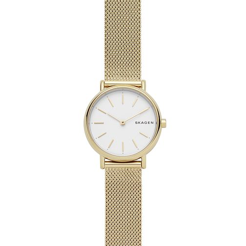 Skagen Signatur Slim Ladies' Gold Tone Steel Mesh Watch - Product number 4173864