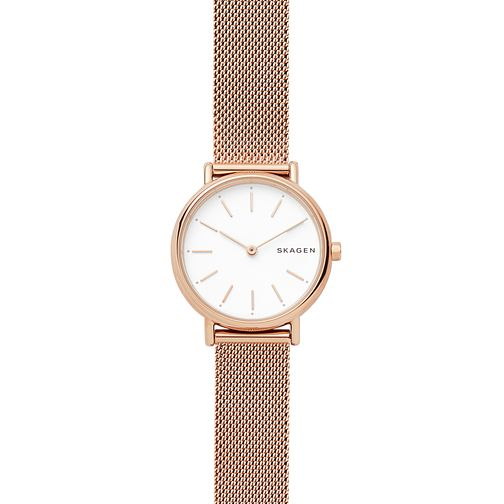 9c115216303e Skagen Signatur Slim Ladies  Rose Gold Tone Steel Mesh Watch - Product  number 4173872