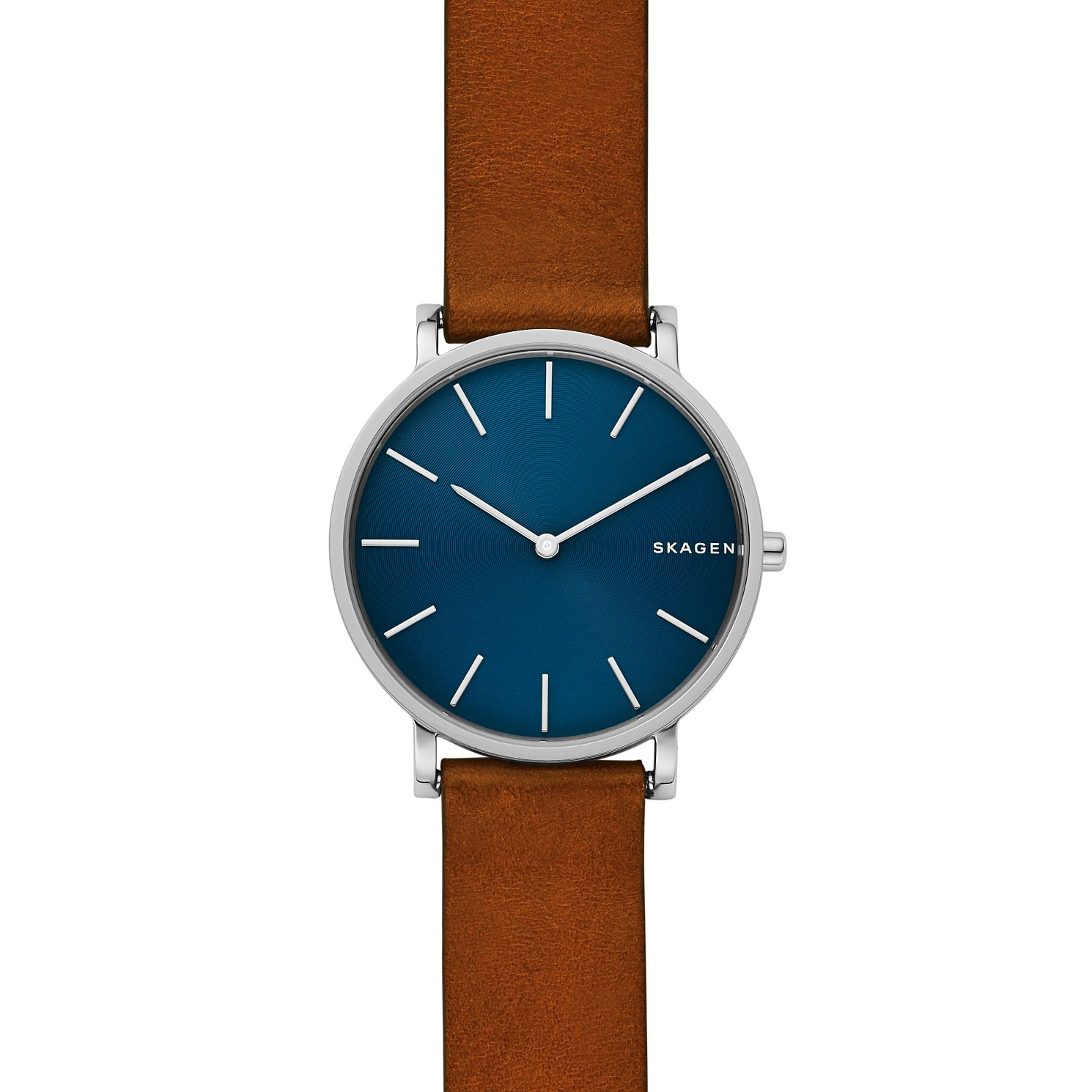 Skagen Hagen Slim Men's Brown Leather Strap Watch - Product number 4173961