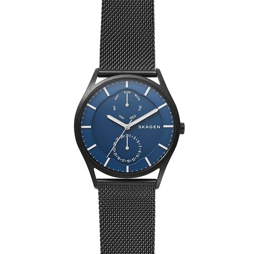 Skagen Holst Men's Black Steel Mesh Multifunction Watch - Product number 4173996