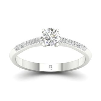 The Diamond Story 18ct White Gold 1/3ct Diamond Ring - Product number 4174283