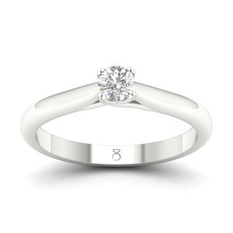 The Diamond Story Platinum 1/4ct Diamond Solitaire Ring - Product number 4174429