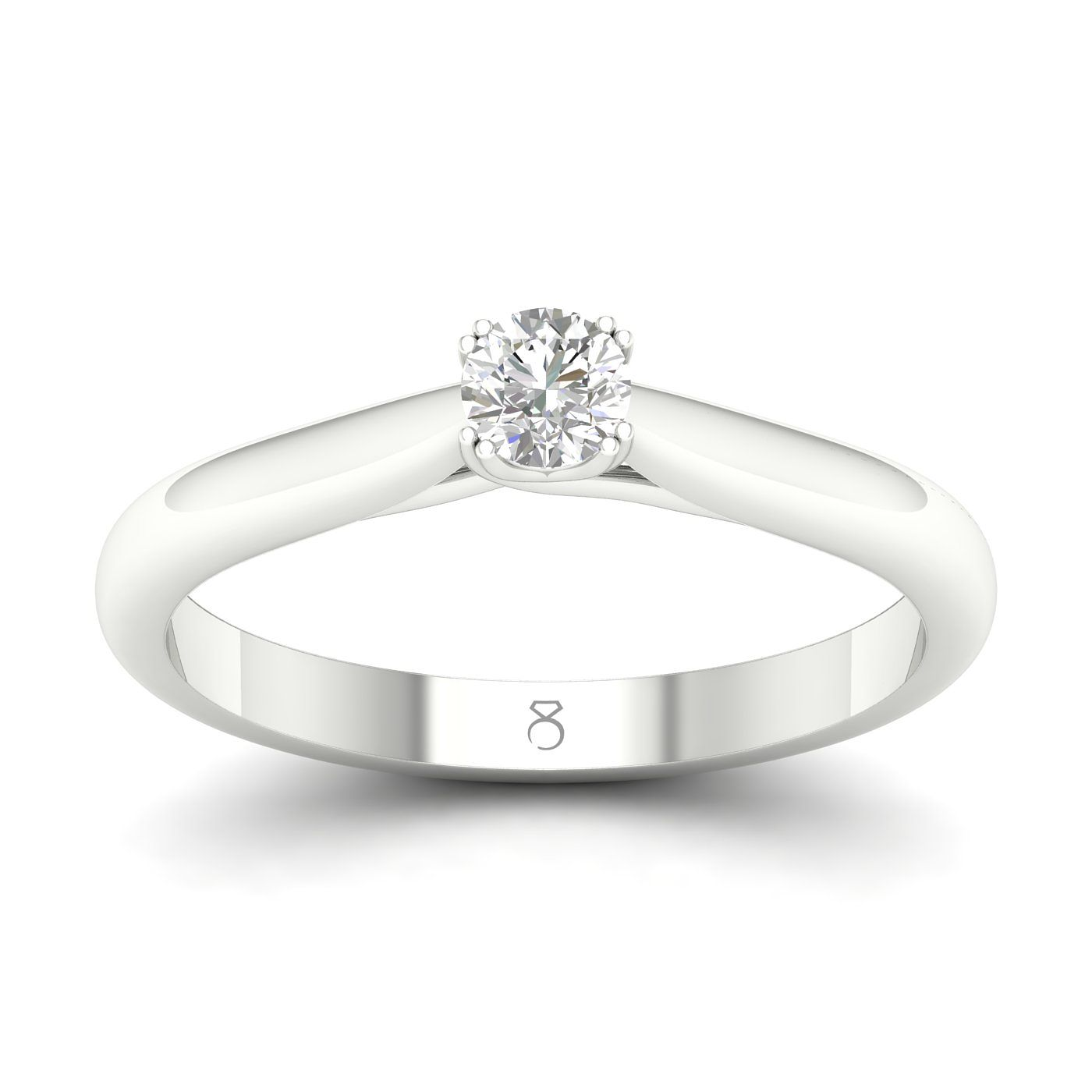 The Diamond Story Platinum 1/2ct Diamond Solitaire Ring - Product number 4174747