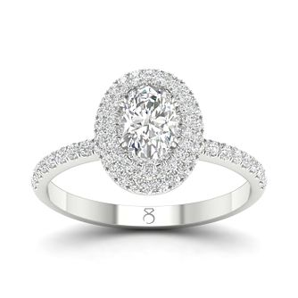 The Diamond Story 18ct White Gold 3/4ct Diamond Oval Ring - Product number 4175042