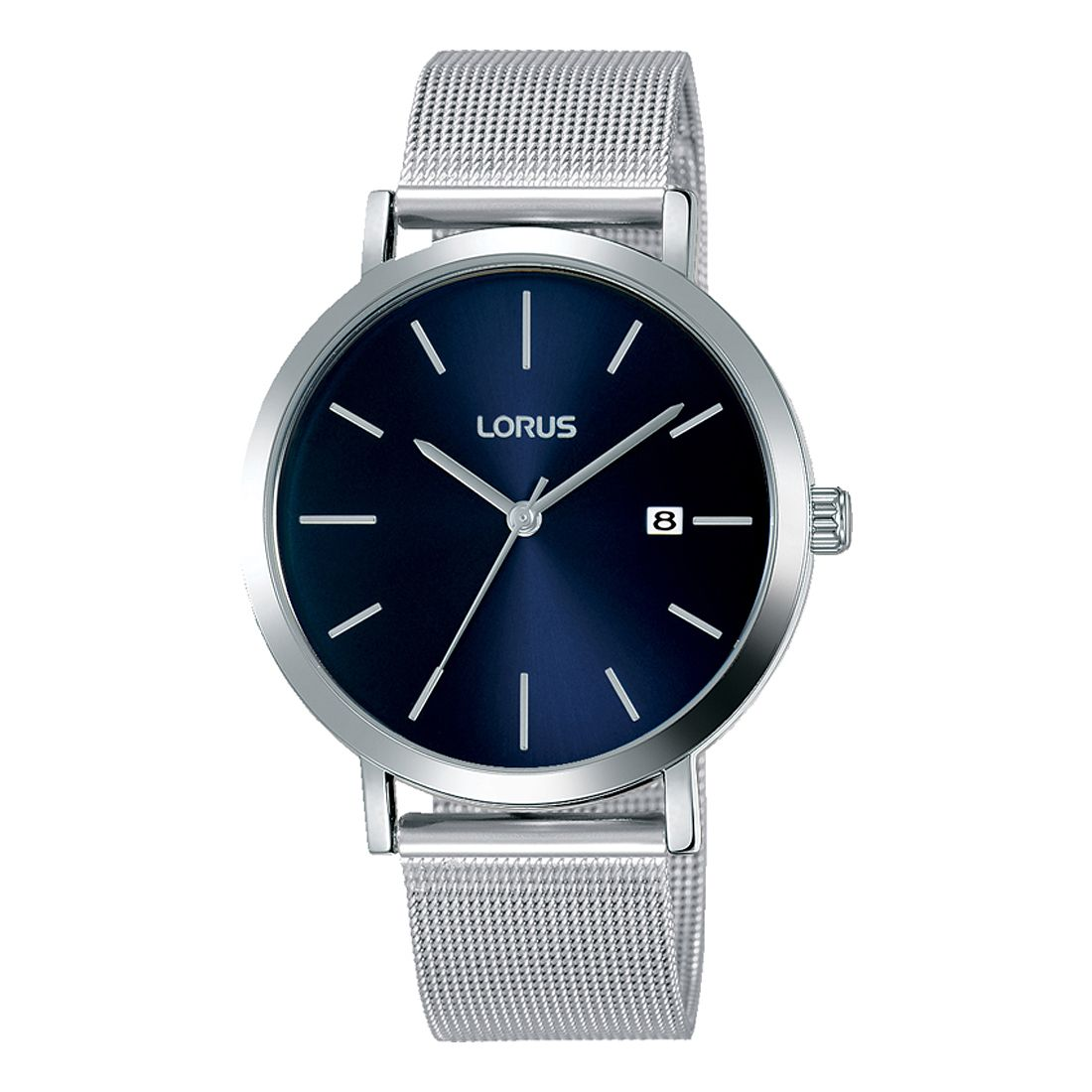 Lorus Men's Blue Dial Stainless Steel Mesh Bracelet Watch - Product number 4177509