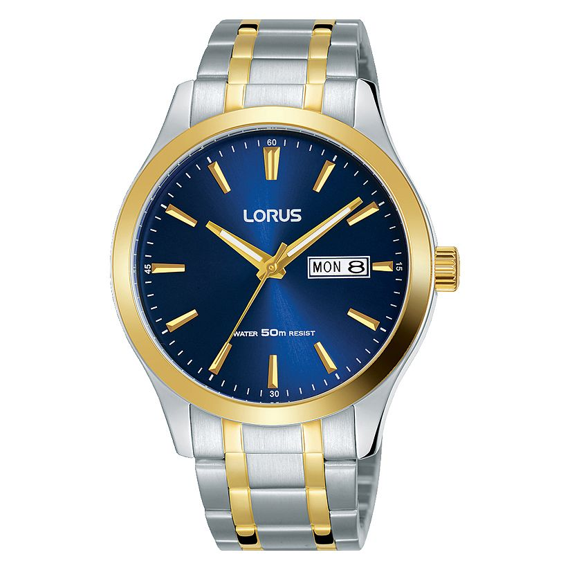 Lorus Men's Two Tone Blue Dial Bracelet Watch - Product number 4177622