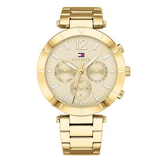 Tommy Hilfiger Ladies' Gold Ion Plated Bracelet Watch - Product number 4178068