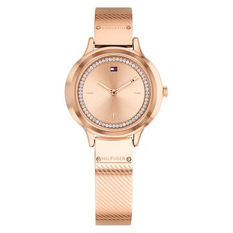 Tommy Hilfiger Ladies' Rose Gold Ion Plated Bangle Watch - Product number 4178130