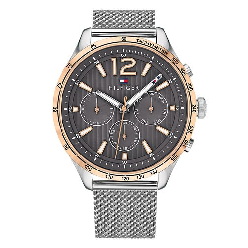 Tommy Hilfiger Men's Stainless Steel Mesh Strap Watch - Product number 4178173