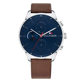 Tommy Hilfiger Men's Brown Leather Strap Watch - Product number 4178254