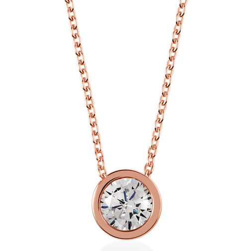 Radley London Rose Gold Plated Cubic Zirconia Coin Necklace - Product number 4179897