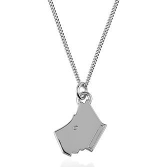 Radley London Sterling Silver Plain Dog Head Pendant - Product number 4180259