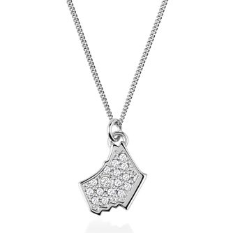 Radley London Sterling Silver Cubic Zirconia Dog Pendant - Product number 4180291