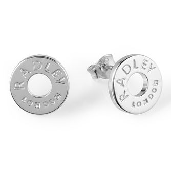 Radley London Sterling Silver Circle Logo Stud Earrings - Product number 4180410