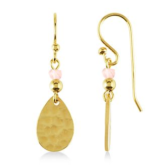 Radley London Gold Plated & Pink Crystal Drop Earrings - Product number 4180534