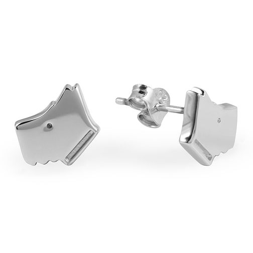 Radley London Sterling Silver Plain Dog Head Stud Earrings - Product number 4180542