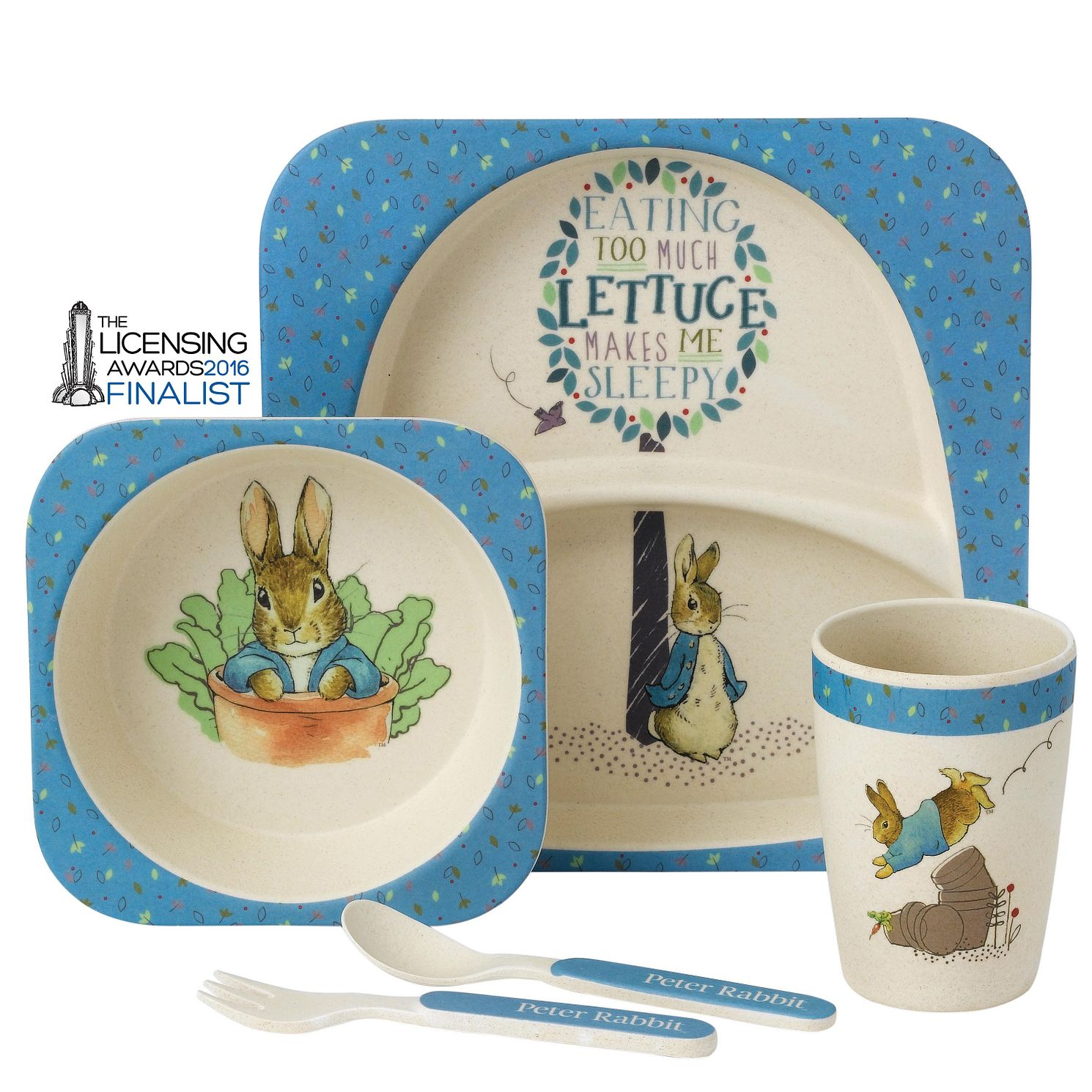 Peter Rabbit Children's Blue Dinner Set - Product number 4180844