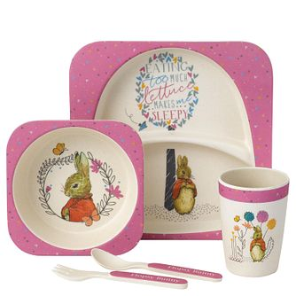 Peter Rabbit Flopsy Children's Pink Dinner Gift Set - Product number 4180852