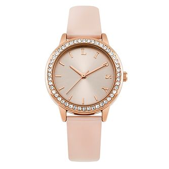 Lipsy Ladies' Pink Strap Watch - Product number 4181263
