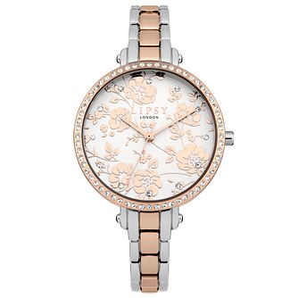 Lipsy Ladies' Silver & Rose Gold Bracelet Watch - Product number 4181301