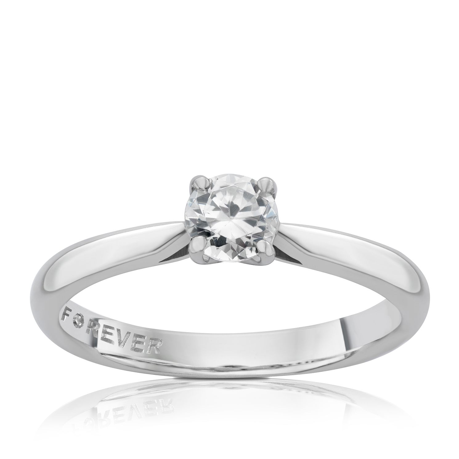 Platinum 1/3 Carat Forever Diamond Ring - Product number 4183533