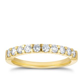 18ct Yellow Gold 1/2ct Diamond Eternity Ring - Product number 4199642