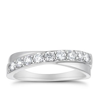 Platinum 1/2ct Diamond Crossover Eternity Ring - Product number 4200160