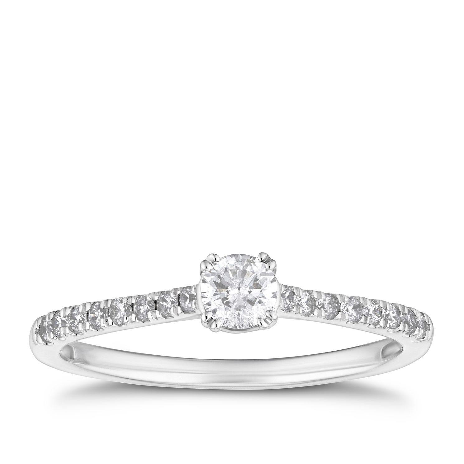 9ct White Gold 1/3ct Diamond Ring - Product number 4206215