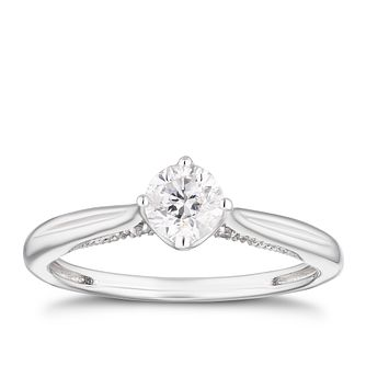 Platinum 1/2ct Diamond Hidden Detail Solitaire Ring - Product number 4207688