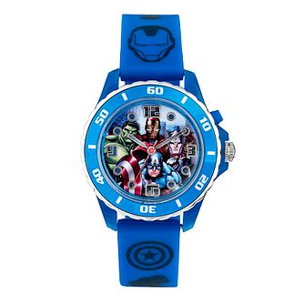3f39919e1 Children s Avengers Light Up Blue Strap Watch - Product number 4210522