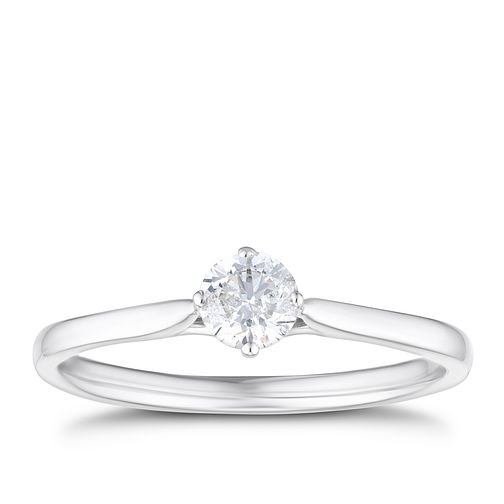 9ct White Gold 0.30ct Diamond Solitaire Ring - Product number 4211898