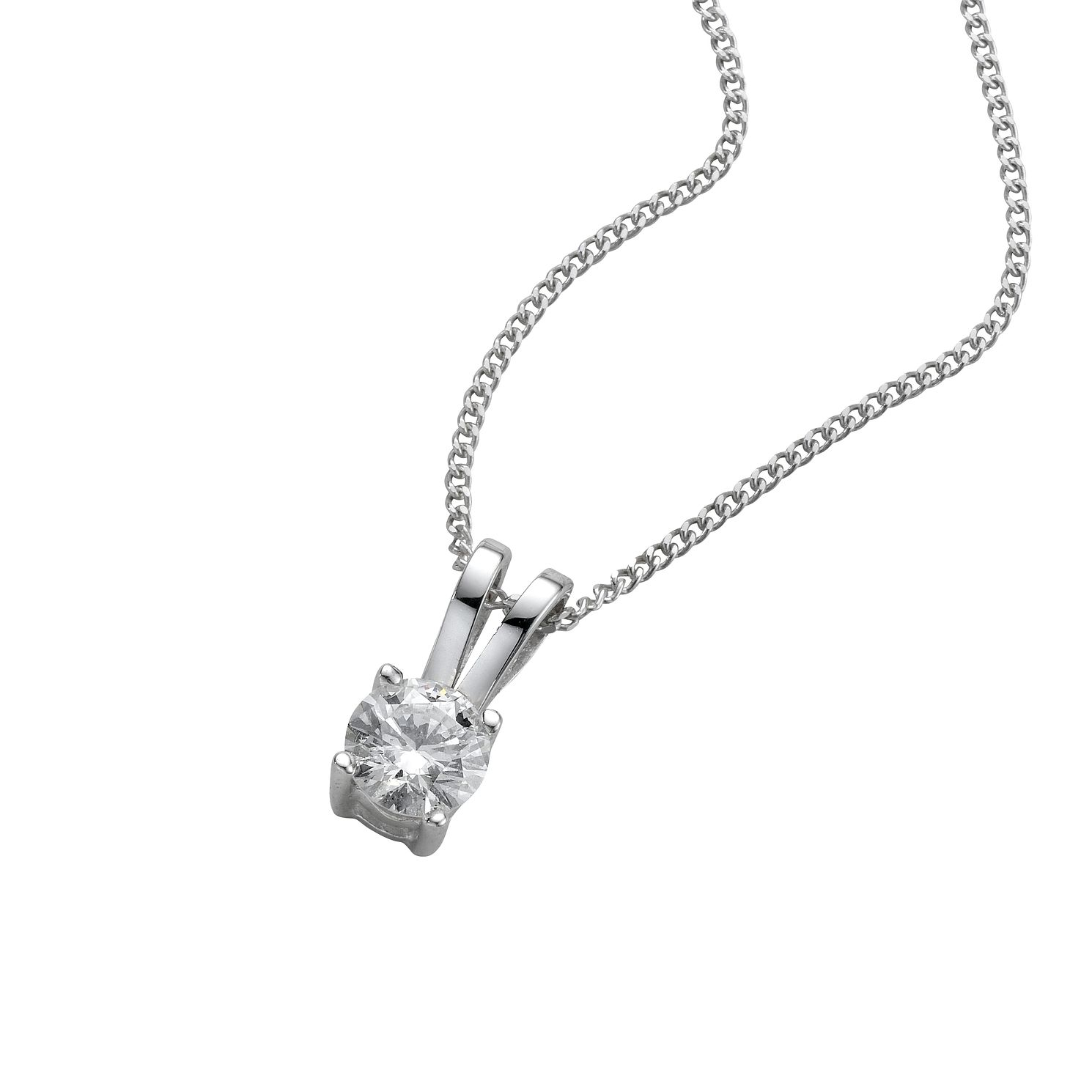 18ct White Gold 0.25ct Diamond Pendant - Product number 4213416