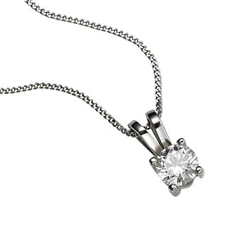 18ct white gold third carat diamond pendant necklace - Product number 4213432