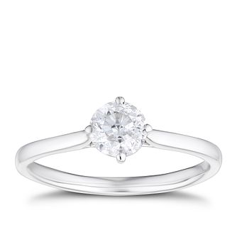 9ct White Gold 3/5ct Diamond Solitaire Ring - Product number 4213890