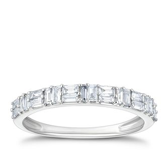 18ct White Gold 2/5ct Baguette Diamond Eternity Ring - Product number 4216261