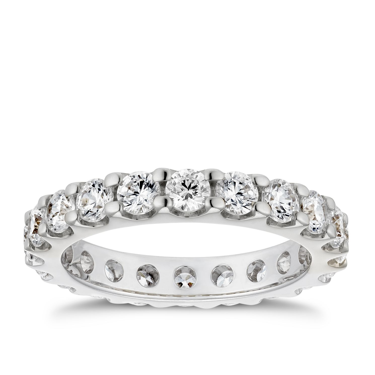 Platinum 2ct Diamond Eternity Ring - Product number 4218973