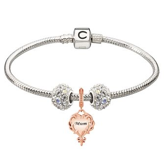 Chamilia Silver Rose Gold Mum & Splendor Bead Bracelet - Product number 4219368