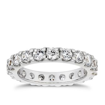 18ct White Gold 2ct Diamond Eternity Ring - Product number 4219503