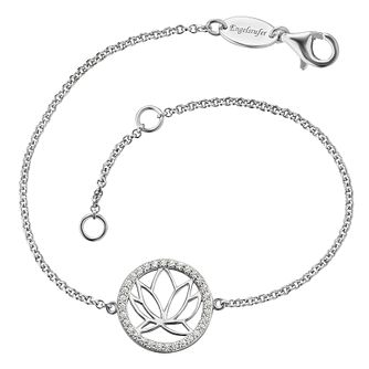 Angel Whisperer Sterling Silver Lotus Blossom Bracelet - Product number 4219643
