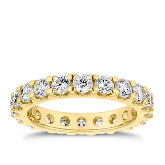 18ct Yellow Gold 2ct Diamond Eternity Ring - Product number 4219708