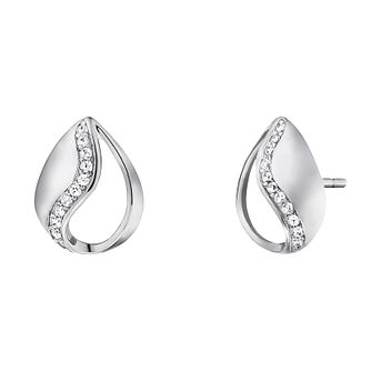 Angel Whisperer Sterling Silver Tear of Heaven Stud Earrings - Product number 4219805