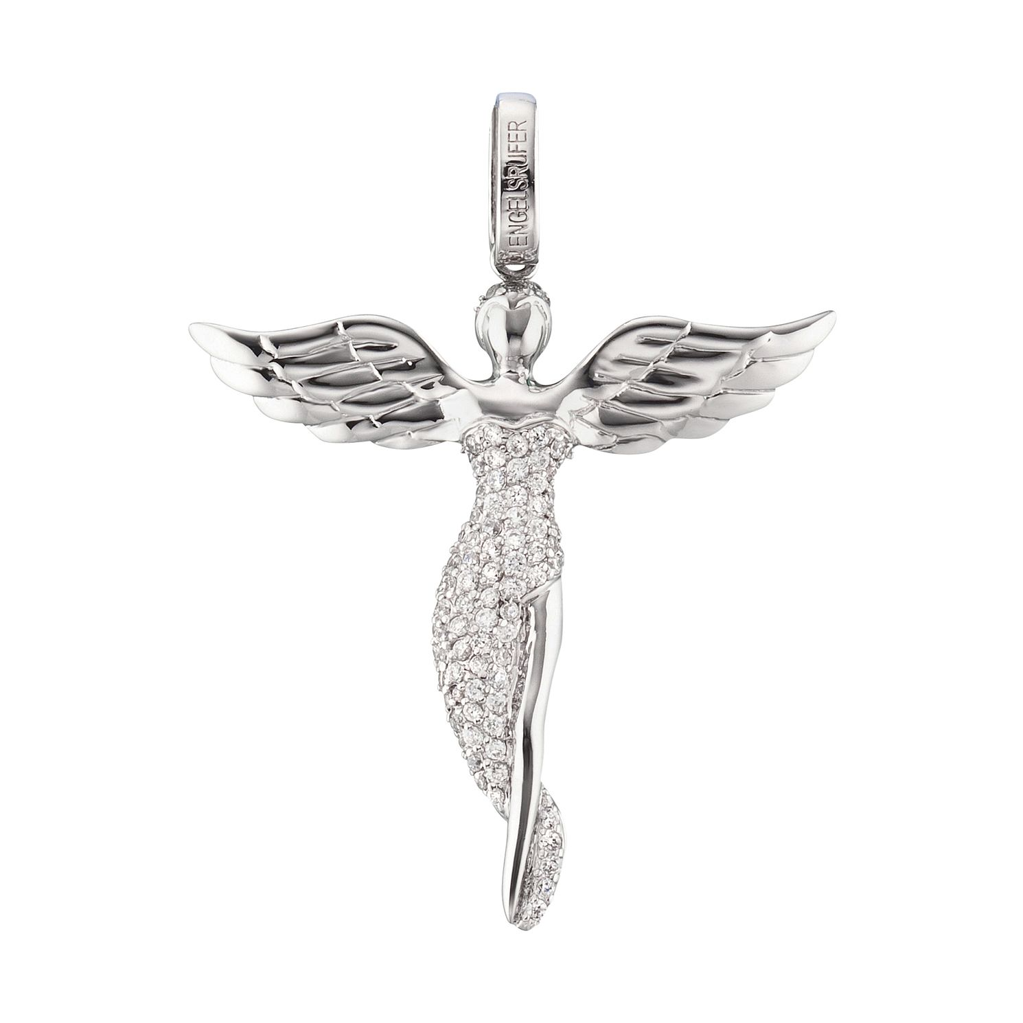 Angel Whisperer Sterling Silver Guardian Angel Pendant - Product number 4220099